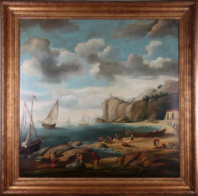 Etienne (20th Century) Untitled, Oil on canvas,