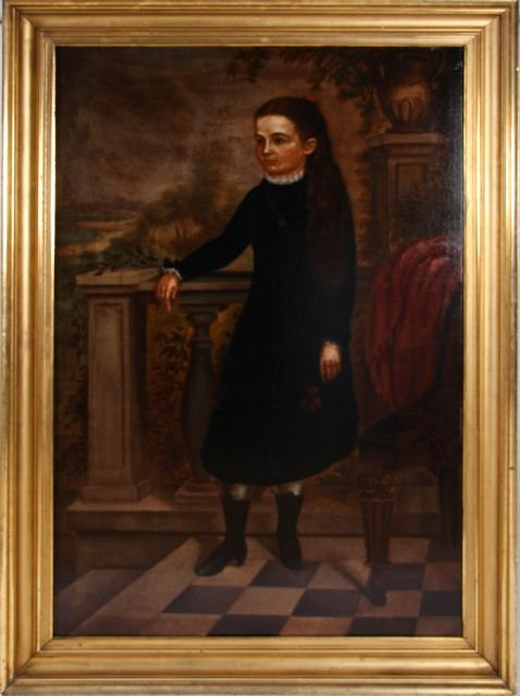 American School (19th Century) Portrait of Miss Hayward
