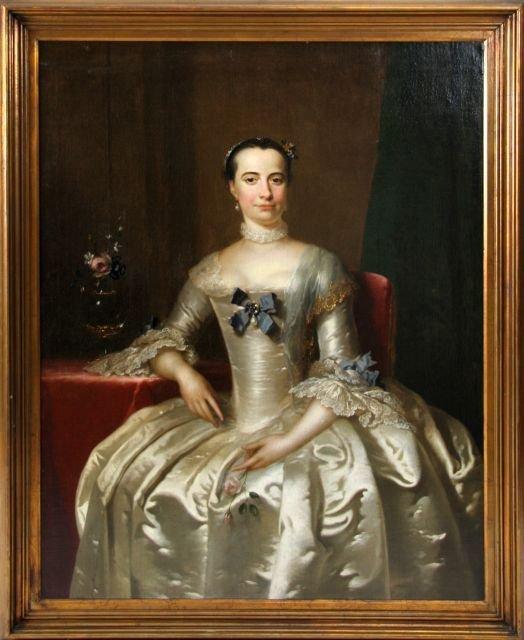 Frans Van Der Myn (1719-1783) Portrait of Mrs. Stephens