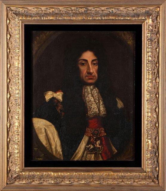 English School (18th Century) Portrait of King Charles