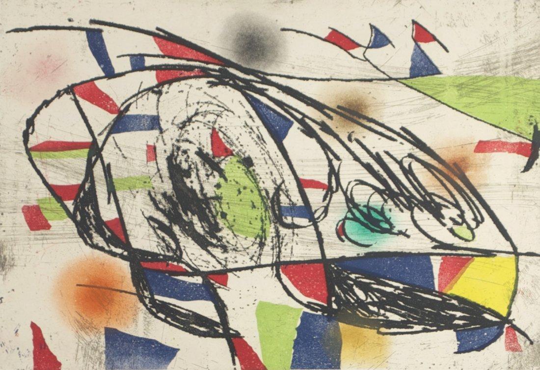Joan Miró (1893-1983) Enrajolats I, Etching and aquatin