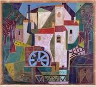 Rolf Muller Landau (1903-1997) Lothringer Muhle, Woodbl