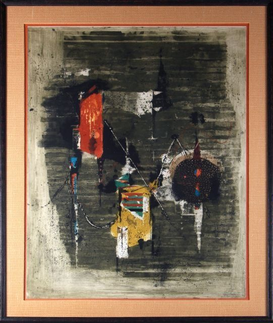 Johnny Friedlaender (1912-1992) Gamme, Color etching an
