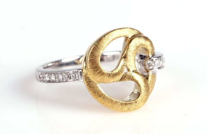 A Frederic Sage 18kt. White and Yellow Gold and Diamond
