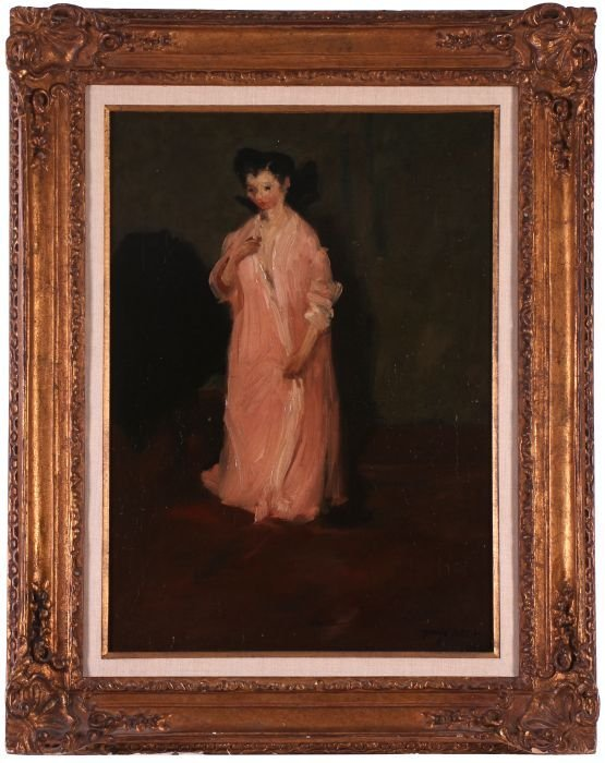 George Benjamin Luks (1867-1933) Woman in Pink Robe,