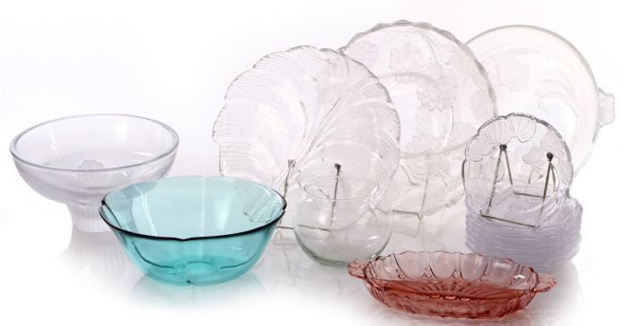 A Miscellaneous Collection of Clear and Colored Glass
