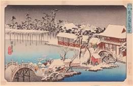 Ando Hiroshige (1797-1858) Temman Shrine at Kameido in