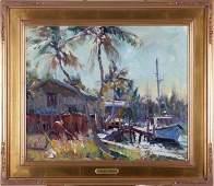 Robert C. Gruppé (b. 1944) Tropical Waterways,