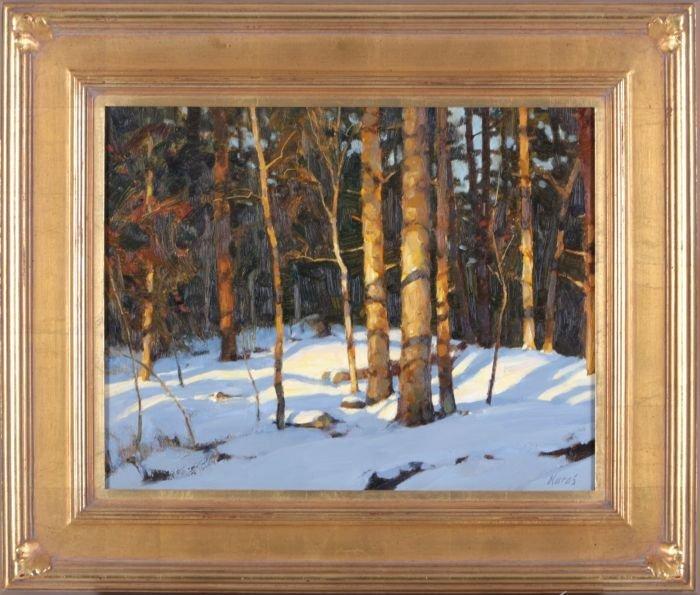 Michael B. Karas (b. 1954) Forest Light,
