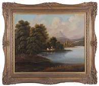 English School (19th/20th Century) River Landscape,