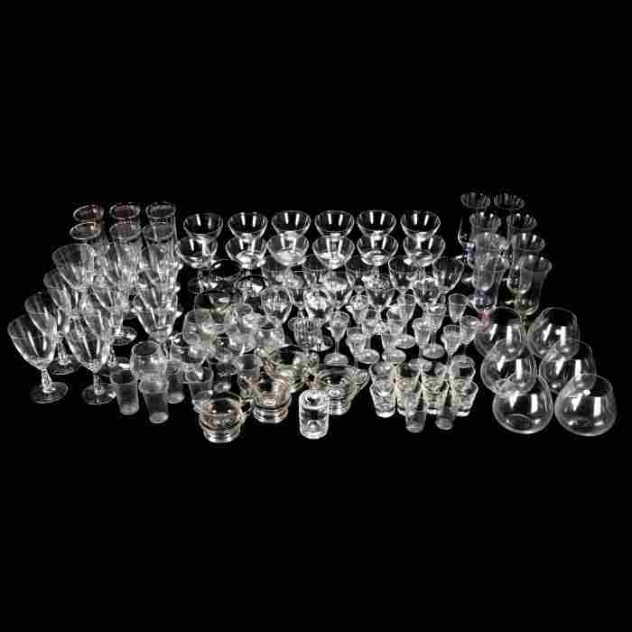 A Miscellaneous Collection Clear Glass Stemware and