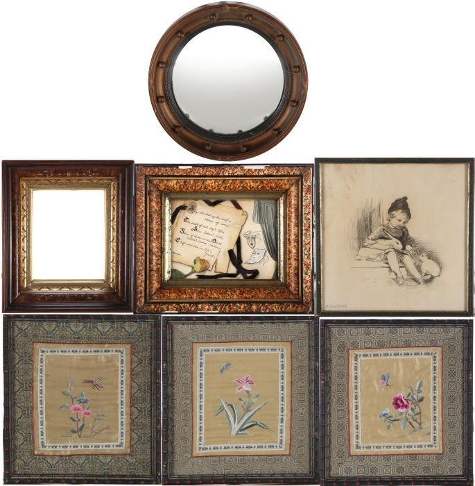 A Miscellaneous Collection of Framed Decorative Items,