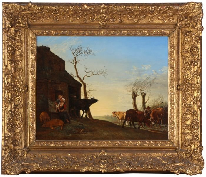 After Paulus Potter (1625-1654) Driving the Cattle to