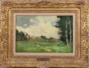 After Alfred Sisley (1839-1899) Landscape, Oil on glue