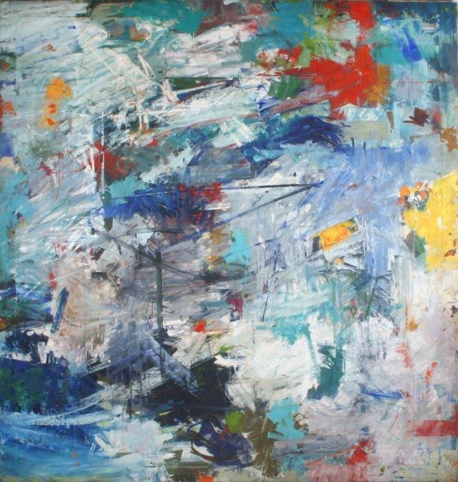 Al James Newbill (b. 1921) Untitled, 1961, Oil on