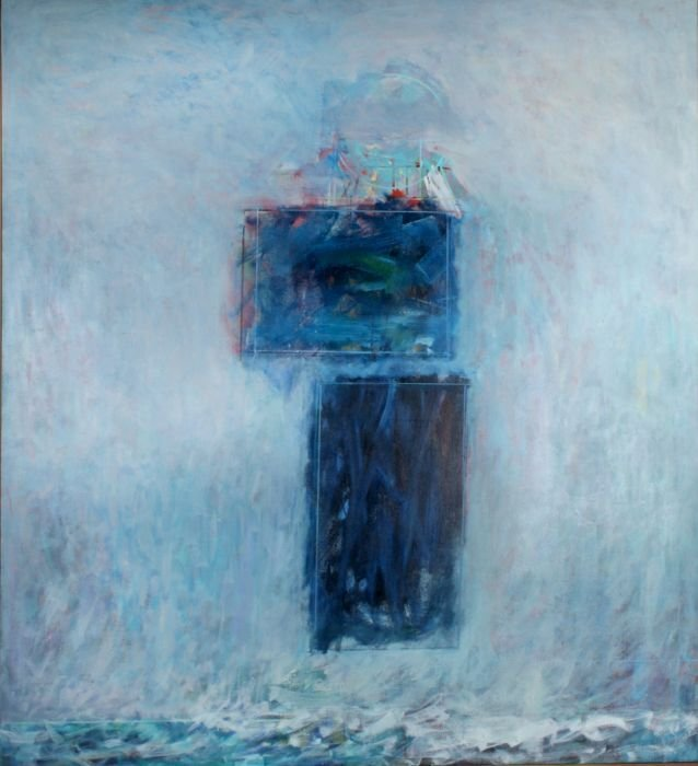 Al James Newbill (b. 1921) The River, First Snow, 1987,