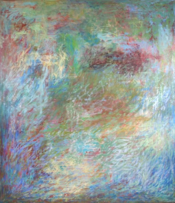 Al James Newbill (b. 1921) Drifting Forms, 1972-73, Oil