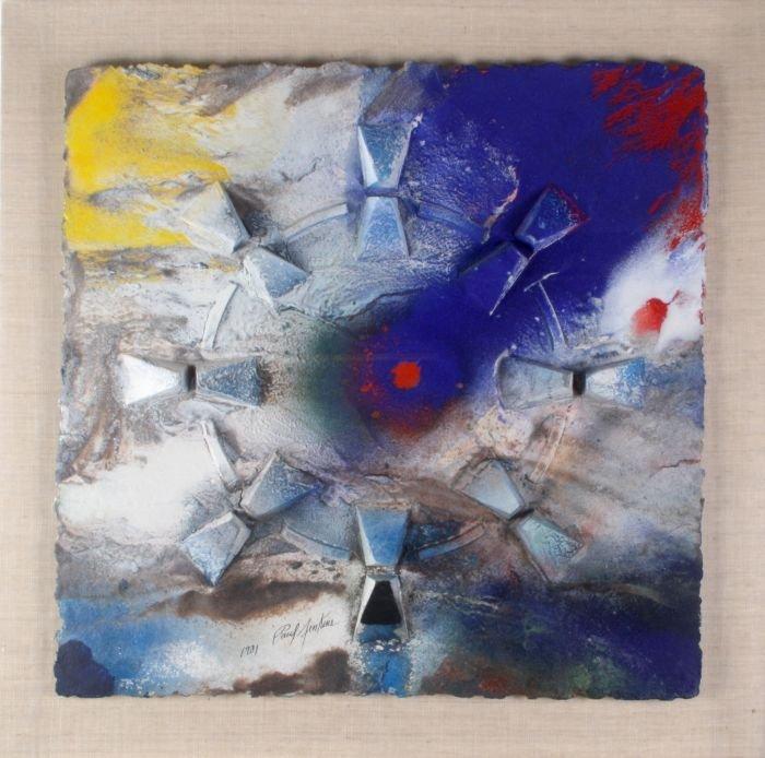 Paul Jenkins (1923-2012) Mandala Meditation Sundial,