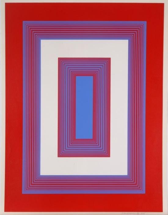 Richard Joseph Anuszkiewicz (b. 1930) Red and Blue