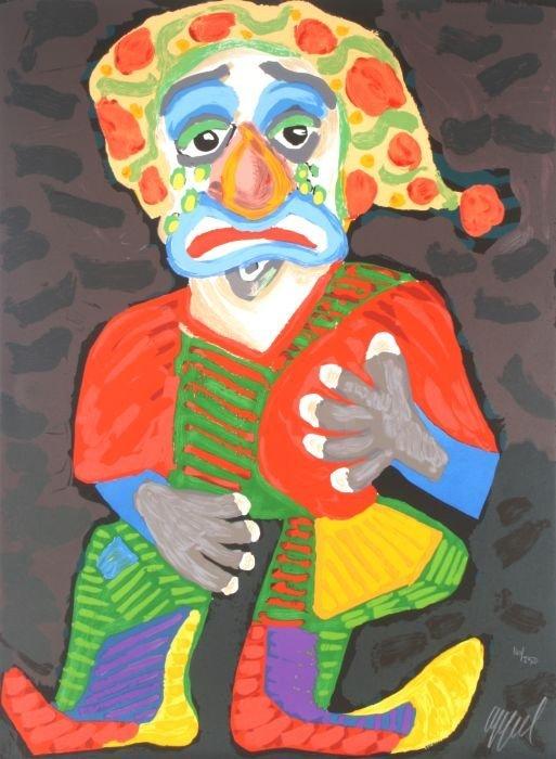 Karel Appel (Dutch, 1921-2006) Pagliacci, 1984, Color
