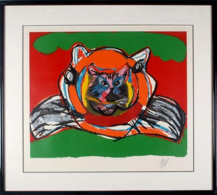 Karel Appel (Dutch, 1921-2006) Cat on Cat on Green,