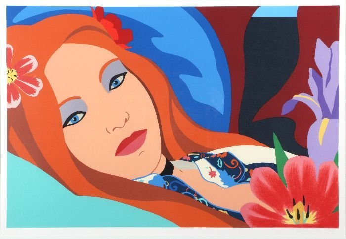 Tom Wesselman (1931-2004) Lulu, Lithograph in color,