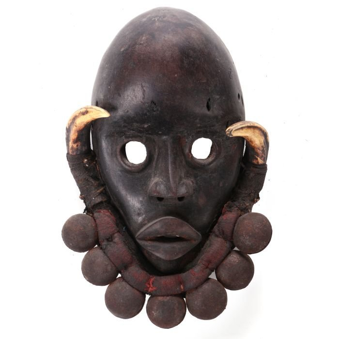 A Dan Tribe Carved Wood Mask, 20th Century,