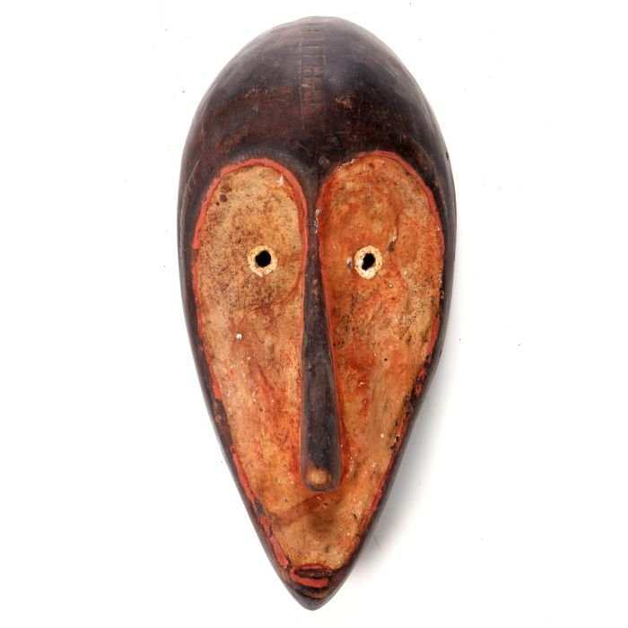 A Fang Tribe Carved and Painted Wood Mask, Gabon, 20th