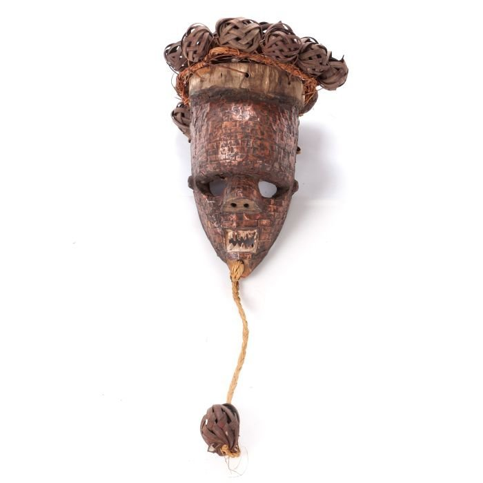 A Salampasu Tribe Carved Wood and Copper Ceremonial
