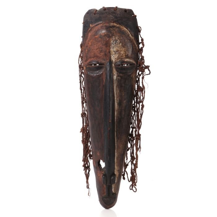 A Fang Tribe Style Carved and Painted Wood Mask, 20th
