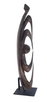 A Large Carved Wood Garra Hook, Papua New Guinea, 20th