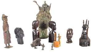 A Miscellaneous Collection of African Brass, Tin and