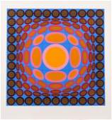Victor Vasarely (1906-1997) Trivega, Lithograph in