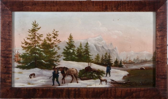 Artist Unknown (20th Century) Winter Scene with Figures