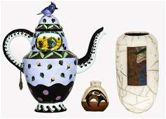 A Group of Three Contemporary Ceramic Decorative and