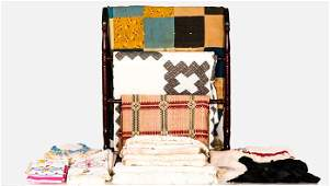 A Miscellaneous Collection of Bed Linens Table Cloths