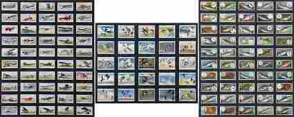 A Collection of Mounted Players Cigarettes Cards 20th