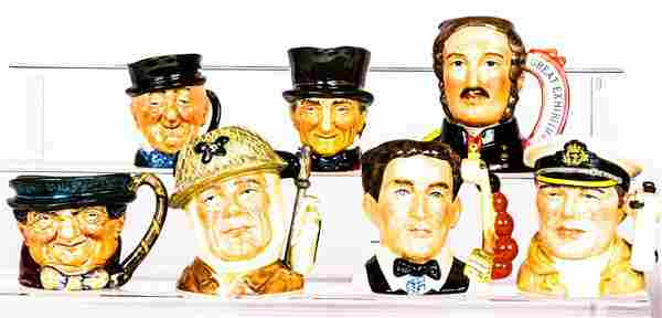 A Collection of Seven Royal Doulton Porcelain Character