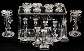 A Miscellaneous Collection of Fourteen Clear Glass