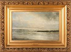 William Trost Richards (1833-1905) Seascape, Oil on