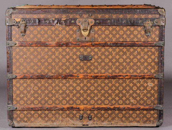 A Vintage Louis Vuitton Steamer Trunk, Late 19th