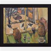 Russell Cheney (1881-1945) Two Pinckey St. Cats/Pigeons