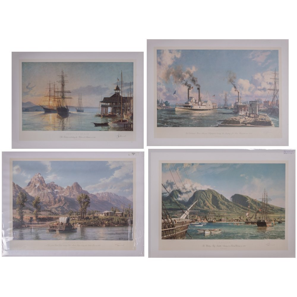 John Stobart (b. 1929) A Collection of Four Works