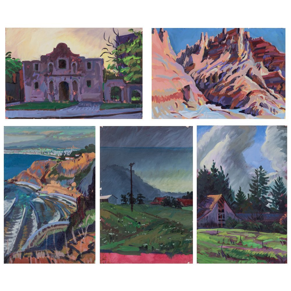 Mark David Gottsegen (1948-2013) Five Works of Western