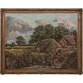 Artist Unknown (20th Century) Country Farm Scene, Oil