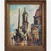 Ancel (20th Century) Florence City Scene, Oil on