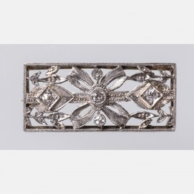 A Platinum And Diamond Brooch,