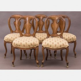 A Group Of Five French Provincial Style Walnut Side