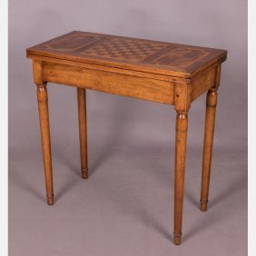 A Georgian Style Mahogany And Fruitwood Parquetry Table