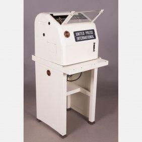 A Vintage United Press International Teletype Machine,